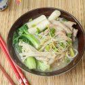(Rice Cake & Pork Shabu Shabu Soup)