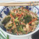 အသီးအရြက္ႏွင့္ ပဲျပားေမႊေၾကာ္ (Scramble Tofu with Vegetable)