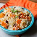 ကန္ဇြန္းဥထမင္းေပါင္း (Sweet Potatoes Rice / Gogumabap)