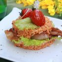 ျမန္-ကိုရီးယား Bacon Rice Burger (Myanmar-Korean Bacon Rice Buger)