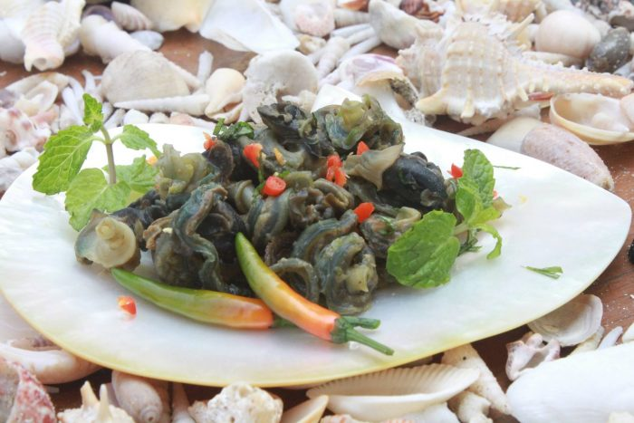 Spicy Mint Shell Salad
