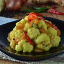 Stir fried Cauliflower with Dried Shrimps