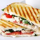 Goat Cheese and Spinach Sandwich