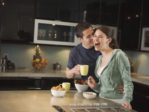 lovely couple in kitchen