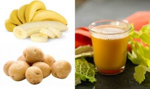 Banana and potato juice for ulcers