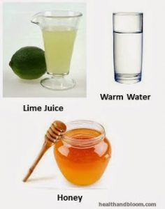 lime water honey