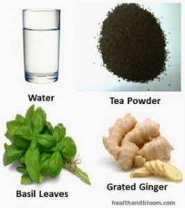water basil tea ginger
