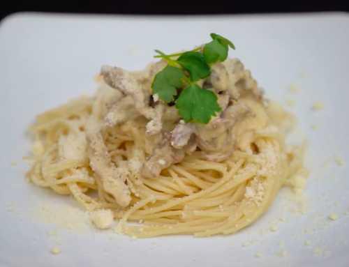 မိသားစုနဲ႔အတူတူ လုပ္စားႏိုင္မယ့္ အရသာရွိတဲ့ Creamy Beef Carbonara Pasta ေလး