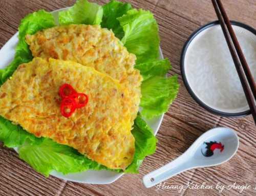 မုန်လာဥ အသားစဉ်းကောကြော် Omelette