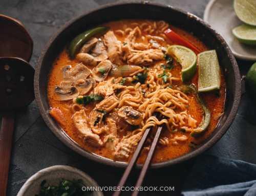 ထိုင်းစတိုင်လ် ကြက်သားအရသာ ချဉ်ငန်စပ်ခေါက်ဆွဲ