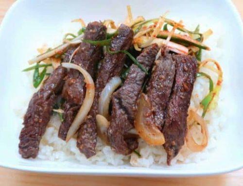 ကိုရီးယားစတိုင်လ် အမဲသားသုပ် အစပ်ဟင်း