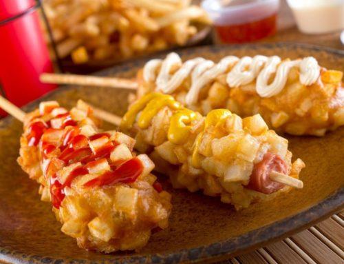 အာလူးလုံးကပ် Hot Dog